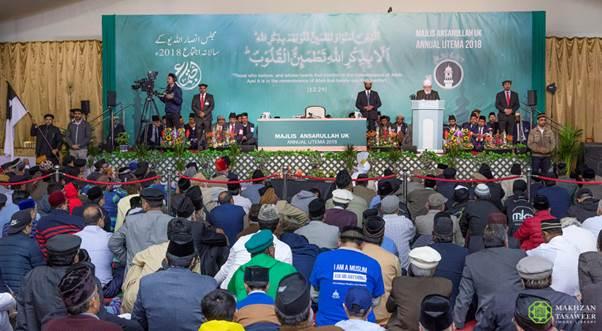 اختتام اجتماع مجلس أنصار الله الـ36 في المملكة المتحدة بخطابٍ لإمام الجماعة الإسلامية الأحمدية العالمية