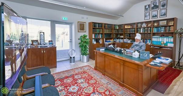 الهيئة الإدارية الوطنية للجماعة الإسلامية الأحمدية في بلجيكا تتشرف بلقاءٍ افتراضي مع إمام الجماعة الإسلامية الأحمدية العالمية
