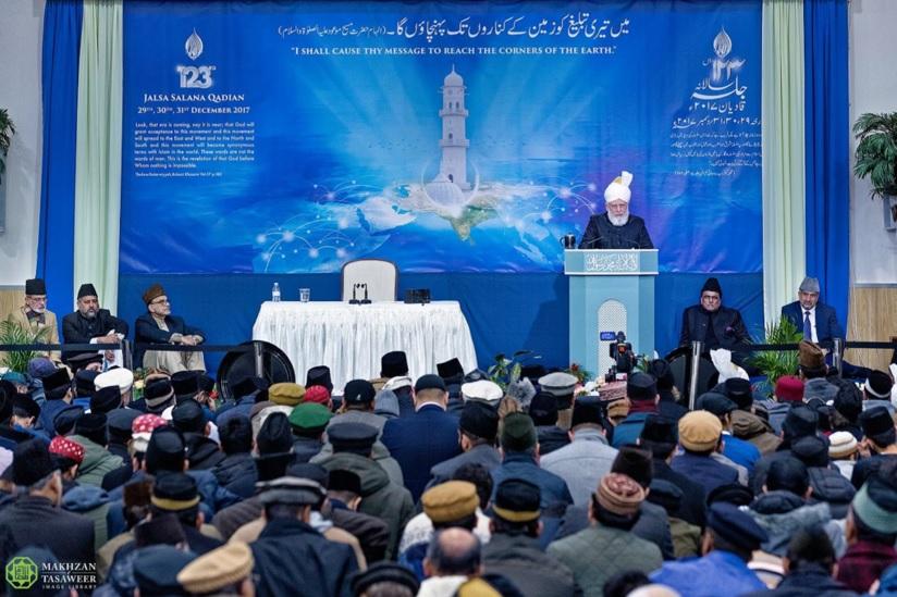 اختتام الجلسة السنوية الـ 123 لقاديان بخطابٍ ألقاه إمام الجماعة الإسلامية الأحمدية العالمية