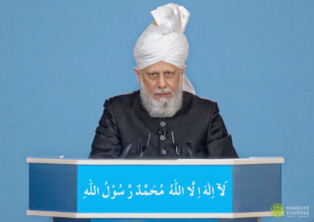 إمام الجماعة الإسلامية الأحمدية العالمية يلقي خطبة الجمعة من Raunheim  في ألمانيا